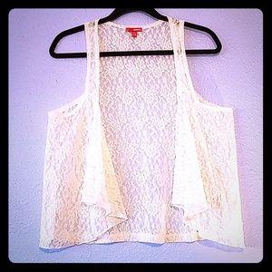 Lace dress vest